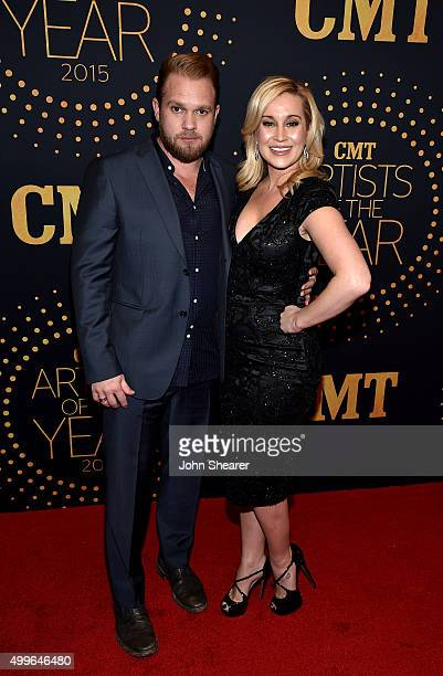 Kyle Jacobs and Kellie Pickler attend the 2015 'CMT Artists of the Year' at Schermerhorn Symphony Center on December 2 2015 in Nashville Tennessee