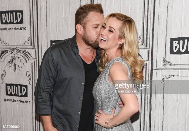 Kyle Jacobs and Kellie Pickler attend the Build Series to discuss their show 'I Love Kellie Pickler' at Build Studio on August 1 2017 in New York City