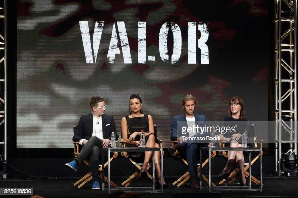 Kyle Jarrow Christina Ochoa Matt Barr and Anna Fricke attend the 2017 Summer TCA Tour CW Panels at The Beverly Hilton Hotel on August 2 2017 in...