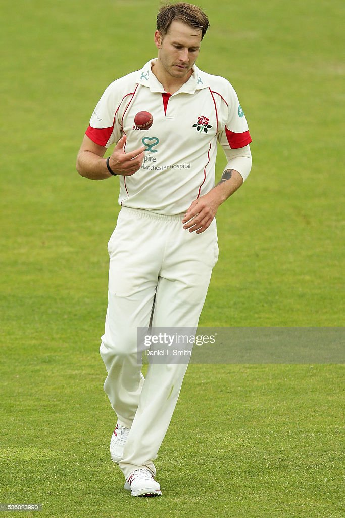 Kyle Jarvis of Lancashire prepares to bowl another during day three of the Specsavers County Championship: Division One match between Yorkshire and Lancashire at Headingley on May 31, 2016 in Leeds, England.