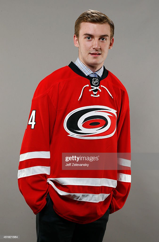Kyle Jenkins of the Carolina Hurricanes poses for a portrait during the 2014 NHL Draft at the Wells Fargo Center on June 28, 2014 in Philadelphia, Pennsylvania.