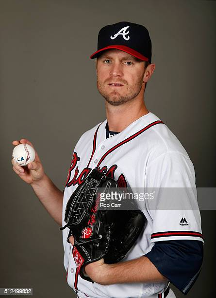 Kyle Kendrick of the Atlanta Braves poses on photo day at Champion Stadium on February 26 2016 in Lake Buena Vista Florida