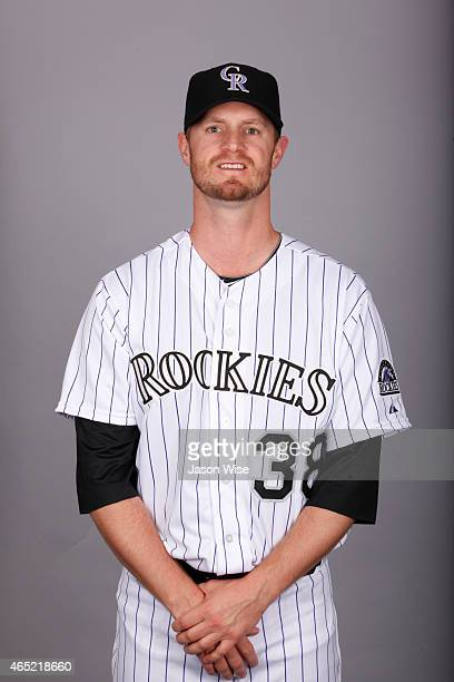 Kyle Kendrick of the Colorado Rockies poses during Photo Day on Sunday March 1 2015 at Salt River Fields at Talking Stick in Scottsdale Arizona