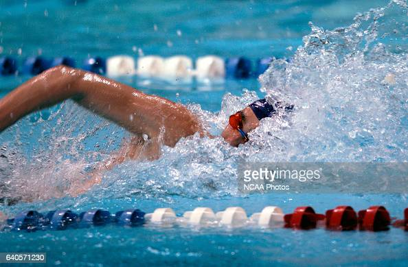 Kyle King of The College of New Jersey swims in the 400 yard freestyle relay during the Division 3 Men's Swimming and Diving Championship held at the...