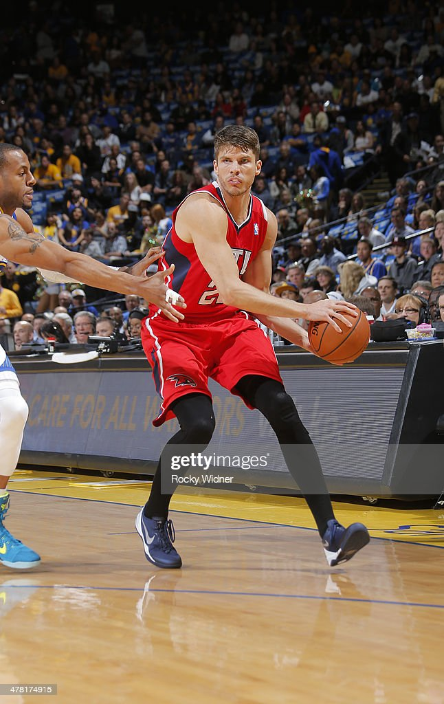 Kyle Korver #26 of the Atlanta Hawks in a game against the Golden State Warriors on March 7, 2014 at Oracle Arena in Oakland, California.