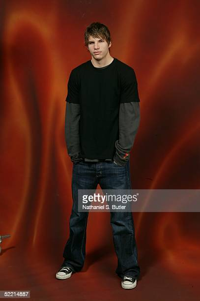 Kyle Korver of the Philadelphia 76ers poses for a portrait during the 2005 NBA AllStar Media Availability on February 18 2005 at The Westin Hotel in...