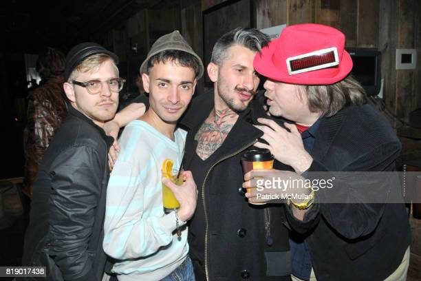 Kyle Kupres David DaSilva Rainblo and Uncle Jimmy attend DANCETERIA 30th Anniversary Party at Aspen Social Club on May 9 2010 in New York City