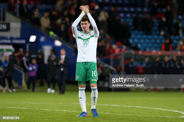 Kyle Lafferty of Northern Ireland after the FIFA 2018 World Cup Qualifier between Norway and Northern Ireland at Ullevaal Stadion on October 8 2017...