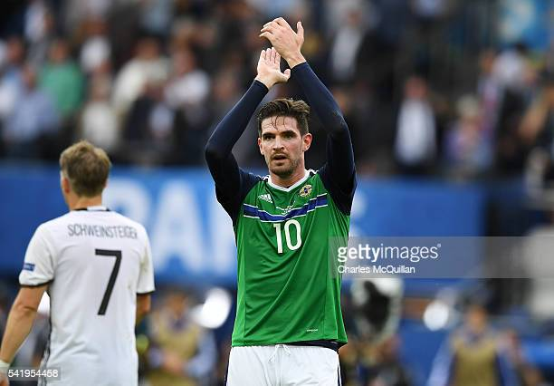 Kyle Lafferty of Northern Ireland after the UEFA EURO 2016 Group C match between Northern Ireland and Germany at Parc des Princes on June 21 2016 in...