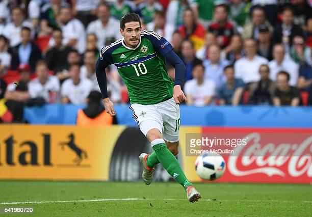Kyle Lafferty of Northern Ireland during the UEFA EURO 2016 Group C match between Northern Ireland and Germany at Parc des Princes on June 21 2016 in...
