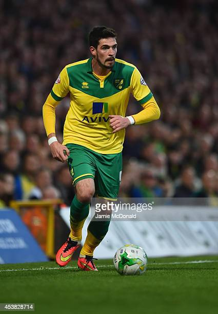 Kyle Lafferty of Norwich City in action during the Sky Bet Championship match between Norwich City and Blackburn Rovers at Carrow Road on August 19...