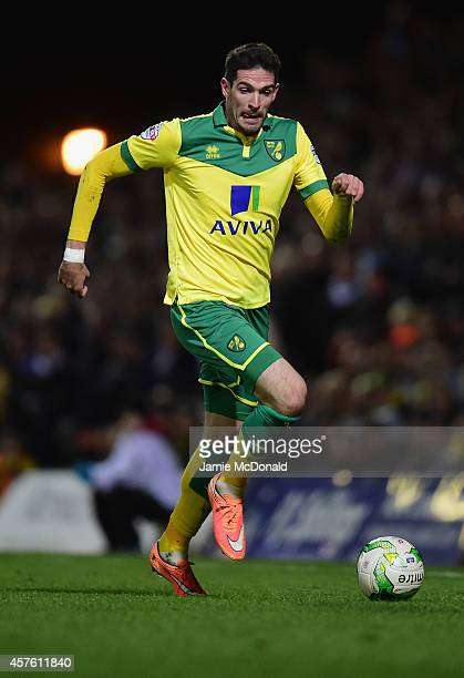 Kyle Lafferty of Norwich City in action during the Sky Bet Championship match between Norwich City and Leeds United at Carrow Road on October 21 2014...