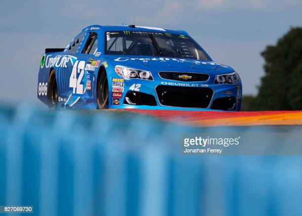 Kyle Larson driver of the Credit One Bank Chevrolet drives during the Monster Energy NASCAR Cup Series I Love NY 355 at The Glen at Watkins Glen...