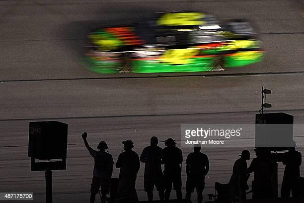 Kyle Larson driver of the Mello Yello Chevrolet races the NASCAR Sprint Cup Series Bojangles' Southern 500 at Darlington Raceway on September 6 2015...