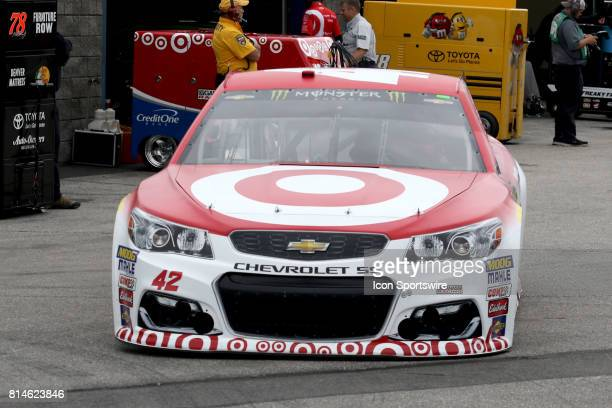 Kyle Larson driver of the Target Chevy during practice for the Monster Energy Cup Series Overton's 301 race on July 2017 at New Hampshire Motor...