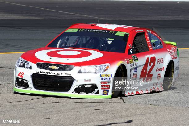 Kyle Larson driver of the Target Chevy during practice for the Monster Energy NASCAR Cup Series race on September 23 at New Hampshire Motor Speedway...