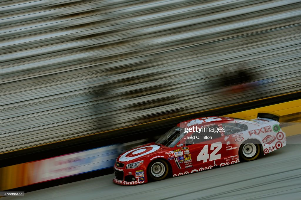 Kyle Larson drives the #42 Target Chevrolet during practice for the NASCAR Sprint Cup Series Food City 500 at Bristol Motor Speedway on March 15, 2014 in Bristol, Tennessee.