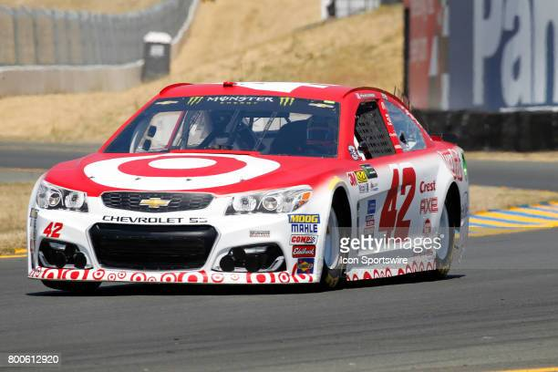 Kyle Larson in the Target Chevrolet takes the pole today for the Toyota/Save Mart 350 on June 24 2017 at Sonoma Raceway in Sonoma CA