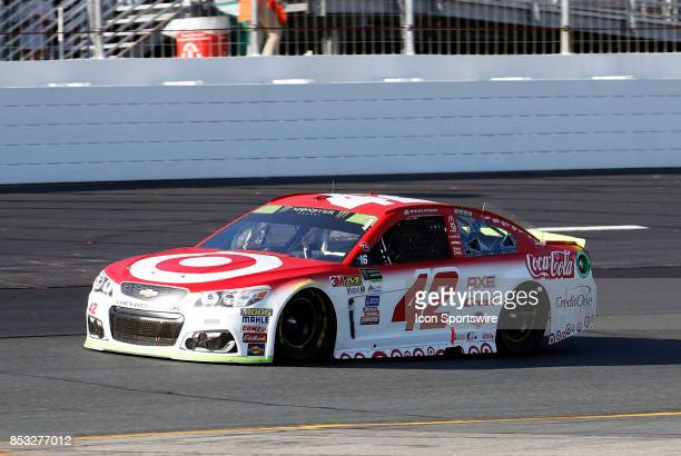 Kyle Larson Monster Energy NASCAR Cup Series driver of the Target Chevrolet during Monster Energy Cup Series ISM Connect 300 on September 24 at New...