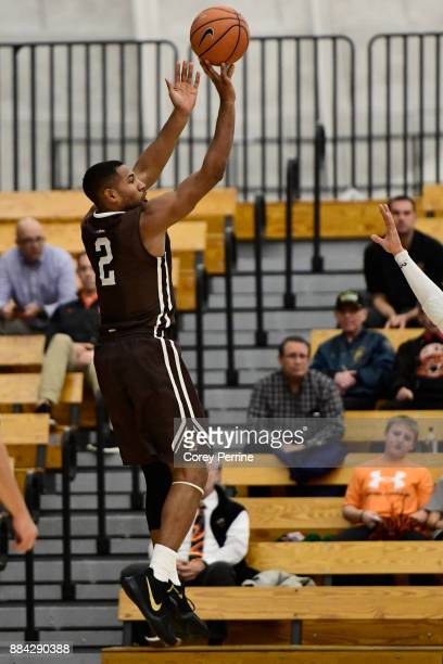 Kyle Leufroy of the Lehigh Mountain Hawks shoots the ball against the Princeton Tigers during the first half at L Stockwell Jadwin Gymnasium on...