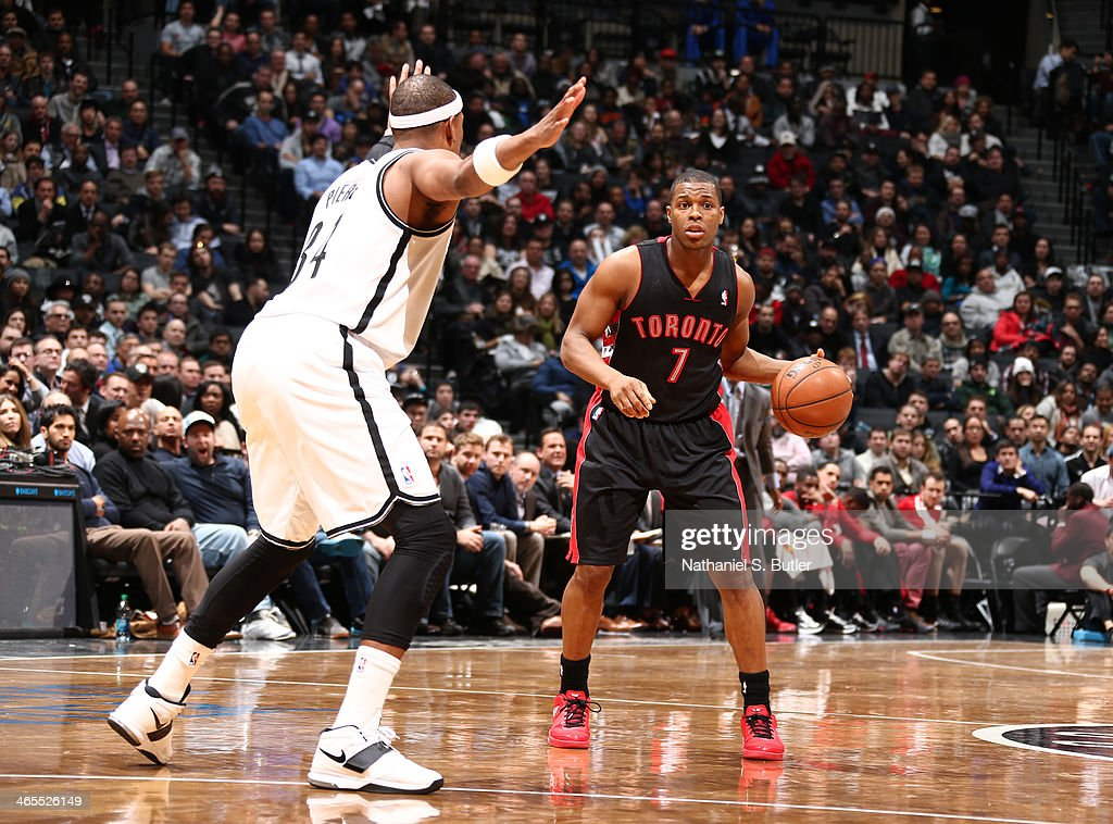 <a gi-track='captionPersonalityLinkClicked' href=/galleries/search?phrase=Kyle+Lowry&family=editorial&specificpeople=714625 ng-click='$event.stopPropagation()'>Kyle Lowry</a> #7 of the Toronto Raptors drives against Paul Pierce #34 of the Brooklyn Nets during a game at Barclays Center in Brooklyn.