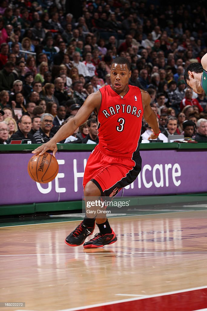 <a gi-track='captionPersonalityLinkClicked' href=/galleries/search?phrase=Kyle+Lowry&family=editorial&specificpeople=714625 ng-click='$event.stopPropagation()'>Kyle Lowry</a> #3 of the Toronto Raptors drives to the basket against the Milwaukee Bucks on March 2, 2013 at the BMO Harris Bradley Center in Milwaukee, Wisconsin.