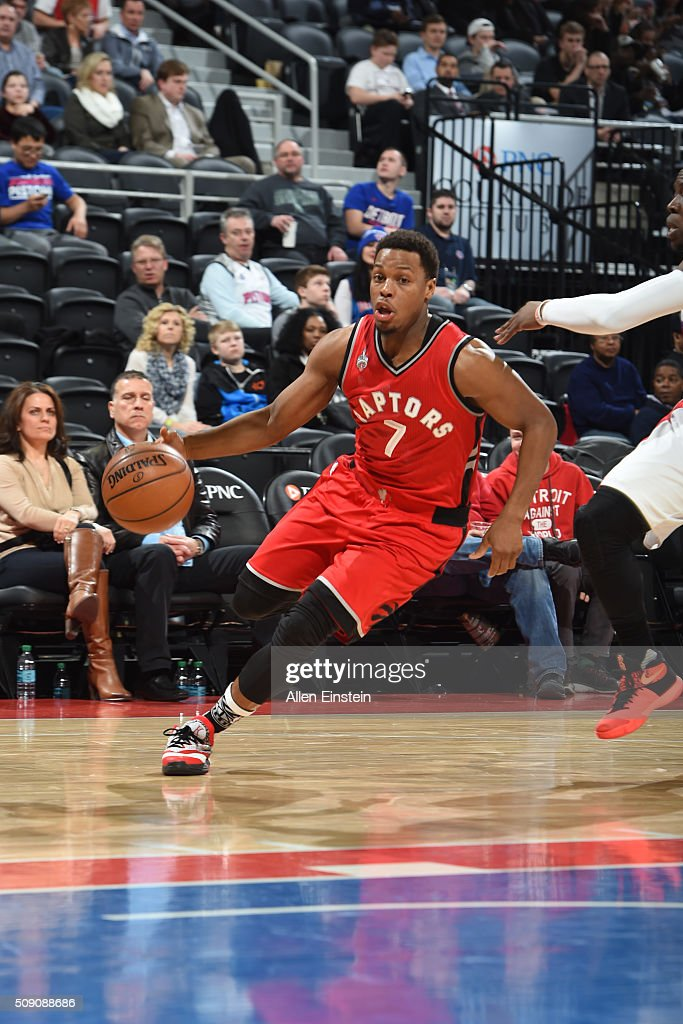 <a gi-track='captionPersonalityLinkClicked' href=/galleries/search?phrase=Kyle+Lowry&family=editorial&specificpeople=714625 ng-click='$event.stopPropagation()'>Kyle Lowry</a> #7 of the Toronto Raptors drives to the basket against the Detroit Pistons on February 8, 2016 at The Palace of Auburn Hills in Auburn Hills, Michigan.
