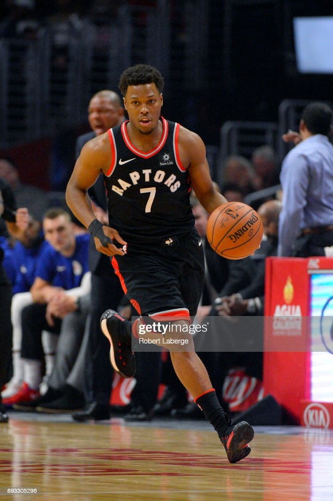 Kyle Lowry #7 of the Toronto Raptors during the game against the Los Angeles Clippers on December 11, 2017 at STAPLES Center in Los Angeles, California.
