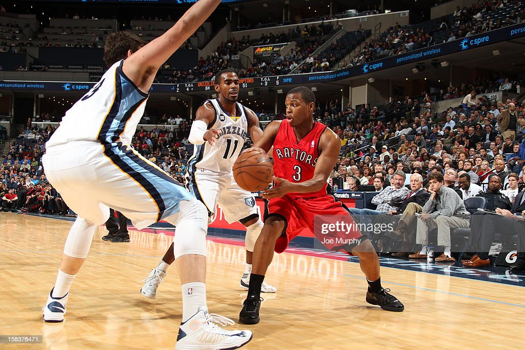 <a gi-track='captionPersonalityLinkClicked' href=/galleries/search?phrase=Kyle+Lowry&family=editorial&specificpeople=714625 ng-click='$event.stopPropagation()'>Kyle Lowry</a> #3 of the Toronto Raptors looks to pass the ball against the Memphis Grizzlies on November 28, 2012 at FedExForum in Memphis, Tennessee.