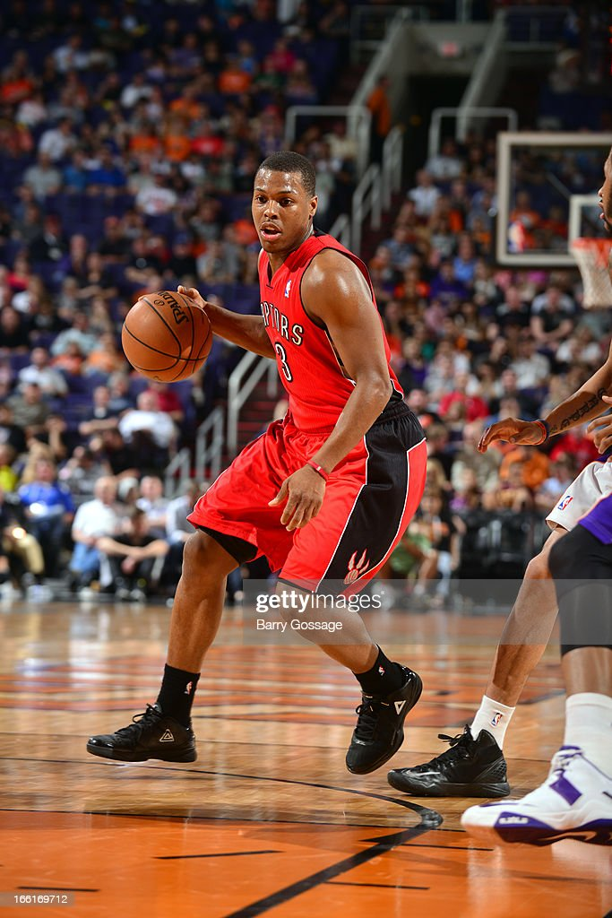 <a gi-track='captionPersonalityLinkClicked' href=/galleries/search?phrase=Kyle+Lowry&family=editorial&specificpeople=714625 ng-click='$event.stopPropagation()'>Kyle Lowry</a> #3 of the Toronto Raptors looks to pass the ball against the Phoenix Suns on March 6, 2013 at U.S. Airways Center in Phoenix, Arizona.