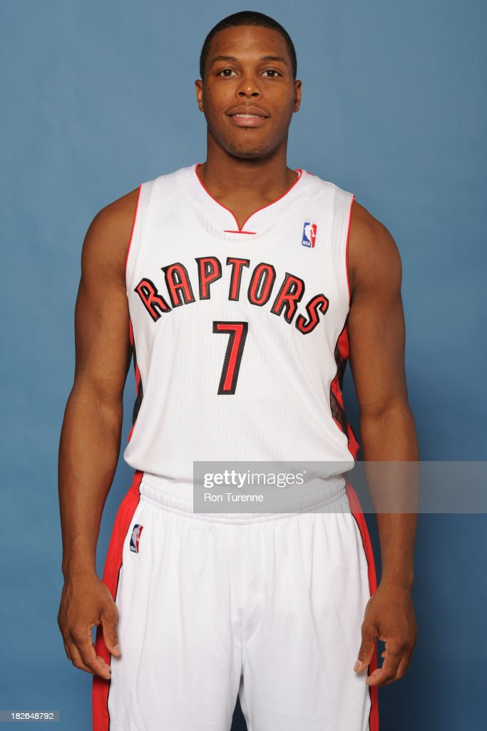 Kyle Lowry #7 of the Toronto Raptors poses for a portrait during a Media Day on September 30, 2013 in Toronto, Canada.