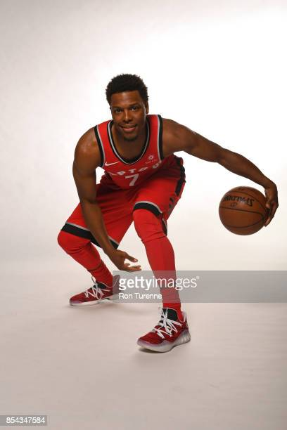 Kyle Lowry of the Toronto Raptors poses for a portrait during Media Day on September 25 2017 at the BioSteel Centre in Toronto Ontario Canada NOTE TO...