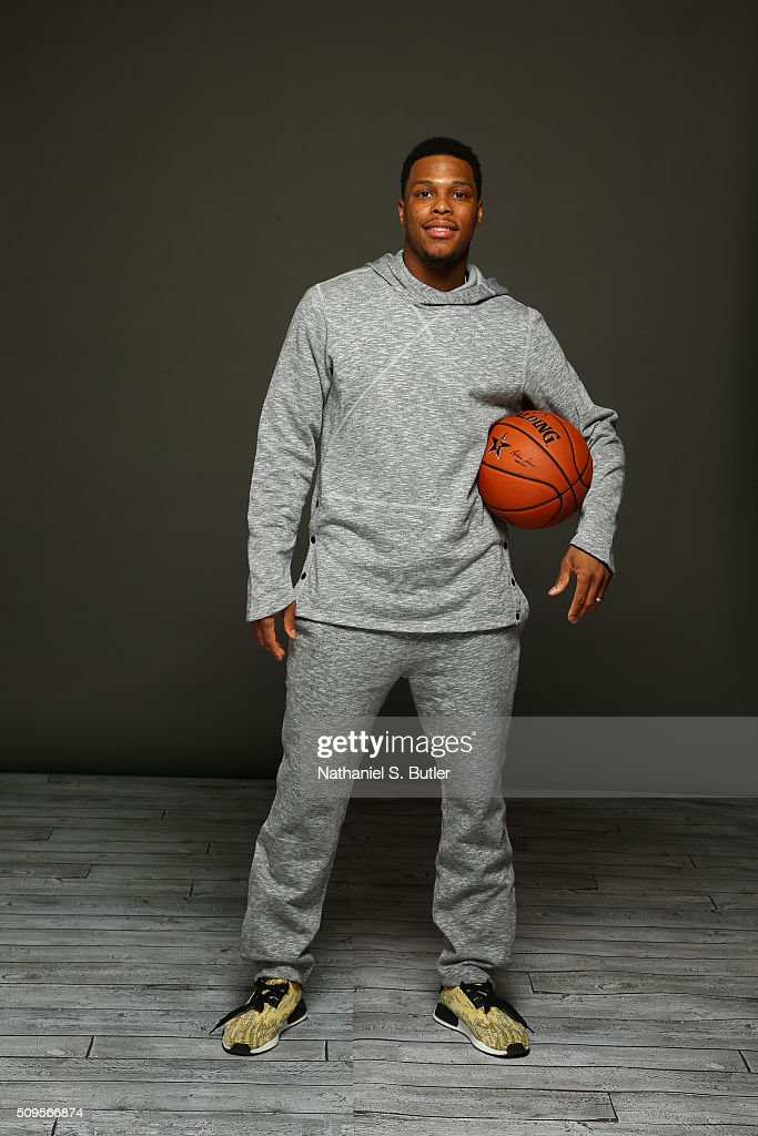 Kyle Lowry of the Toronto Raptors poses for portraits during the NBAE Circuit as part of 2016 All-Star Weekend at the Sheraton Centre Hotel on February 11, 2016 in Toronto, Ontario, Canada.