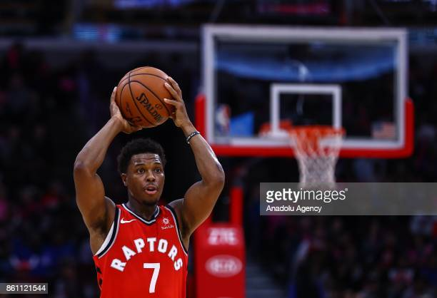 Kyle Lowry of Toronto Raptors in action during a preseason NBA game between Chicago Bulls and Toronto Raptors at the United Center on October 13 2017...