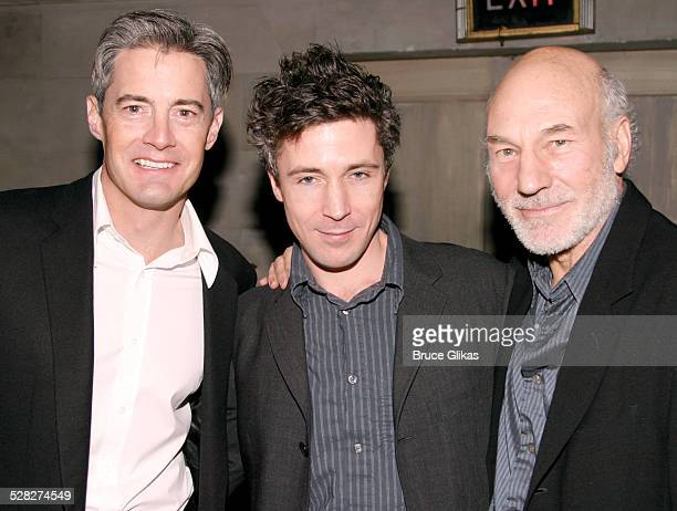 Kyle MacLachlan Aidan Gillen and Patrick Stewart during Opening Night of The Caretaker on Broadway Arrivals Curtain Call and After Party at The...