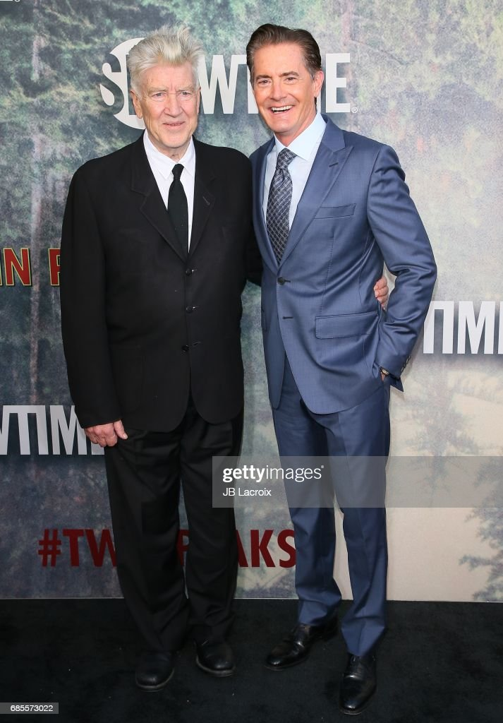 Kyle MacLachlan and David Lynch attend the premiere of Showtime's 'Twin Peaks' at The Theatre at Ace Hotel on May 19, 2017 in Los Angeles, California.