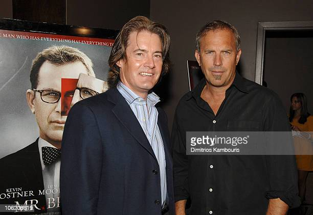 Kyle MacLachlan and Kevin Costner during 'Mr Brooks' New York City Premiere Arrivals at Tribeca Grand Hotel in New York City New York United States