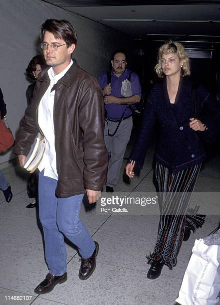 Kyle MacLachlan and Linda Evangelista during Kyle MacLachlan and Linda Evangelista Sighting at Los Angeles International Airport March 25 1994 at Los...