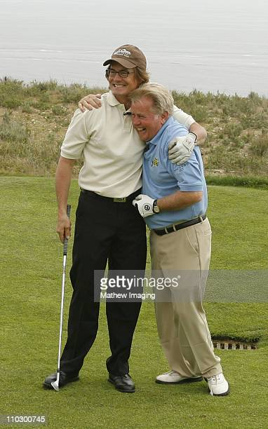 Kyle MacLachlan and Martin Sheen during The Ninth Annual Michael Douglas and Friends Celebrity Golf Tournament at Trump National Golf Club in Rancho...