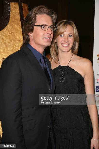 Kyle MacLachlan and wife Desiree Gruber during 2007 Galaxy British Book Awards at Grosvenor House in London United Kingdom