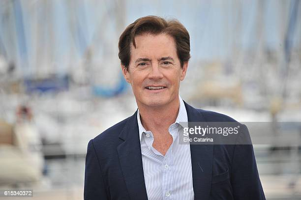 Kyle MacLachlan attends the Twin Peaks photocall during MIPCOM 2016 at Palais des Festivals on October 17 2016 in Cannes France