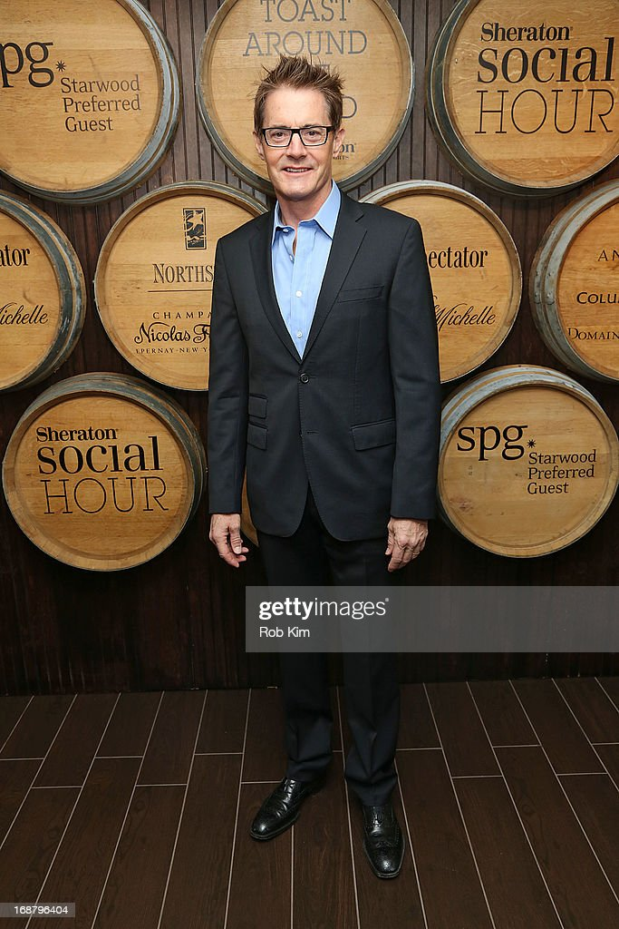 Kyle MacLaughlin attends 'Toast Around the World' Celebration of Sheraton Social Hour! at New York Sheraton Hotel & Tower on May 15, 2013 in New York City.