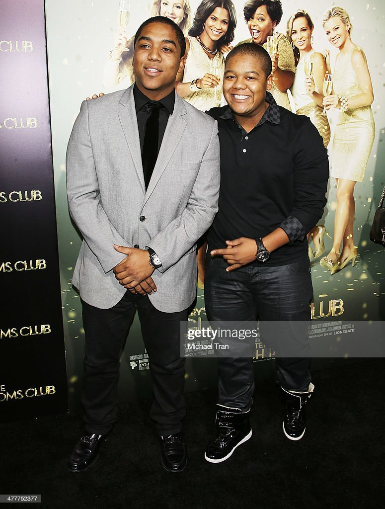 Kyle Massey and Christopher Massey arrive at the Los Angeles premiere of 'Tyler Perry's The Single Moms Club' held at ArcLight Cinemas Cinerama Dome...