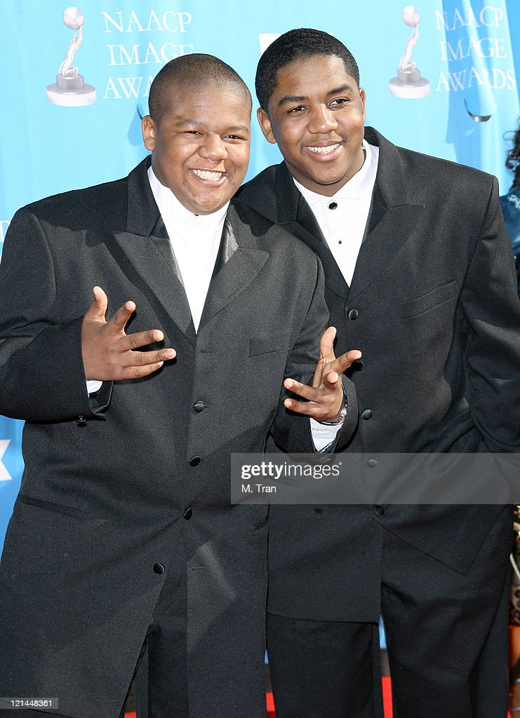 Kyle Massey and Christopher Massey during 38th Annual NAACP Image Awards Arrivals at Shrine Auditorium in Los Angeles California United States