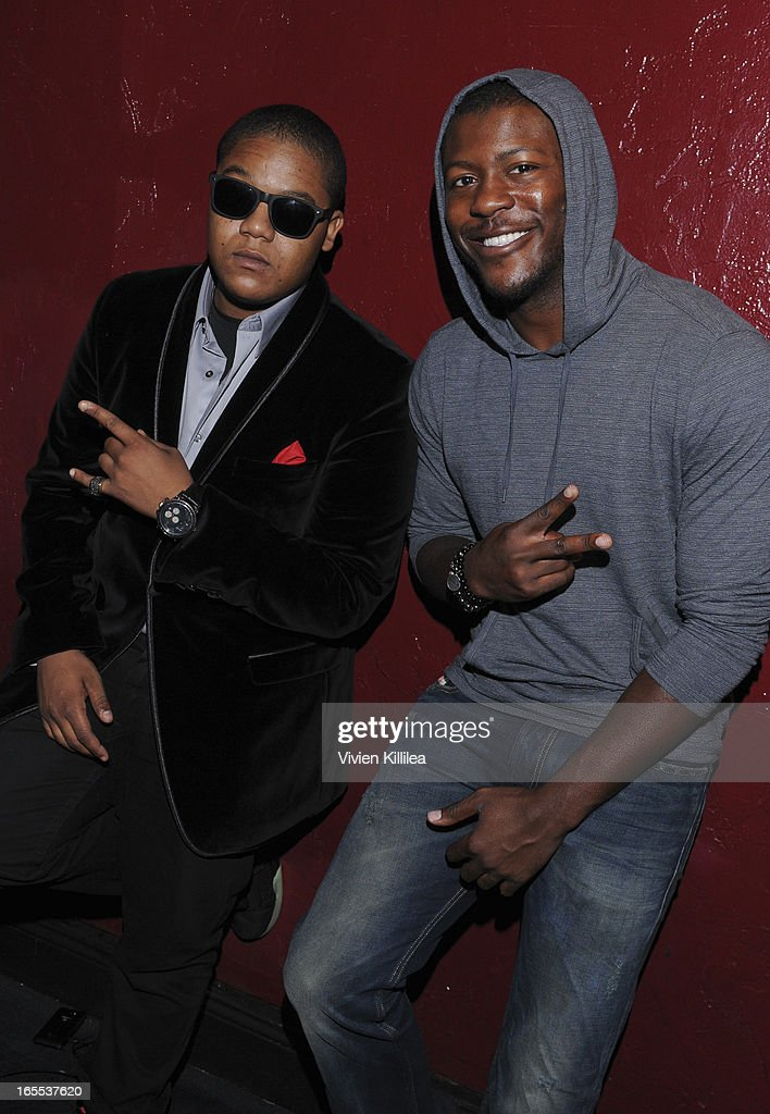 <a gi-track='captionPersonalityLinkClicked' href=/galleries/search?phrase=Kyle+Massey+-+Actor+-+Born+1991&family=editorial&specificpeople=540280 ng-click='$event.stopPropagation()'>Kyle Massey</a> and <a gi-track='captionPersonalityLinkClicked' href=/galleries/search?phrase=Edwin+Hodge&family=editorial&specificpeople=2650969 ng-click='$event.stopPropagation()'>Edwin Hodge</a> attend iiJin's Fall/Winter 2013 'The Love Revolution' Clothing And Footwear Collection Fashion Show at Avalon on April 3, 2013 in Hollywood, California.