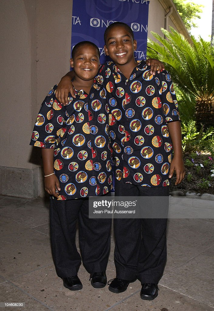 Kyle Massey Christopher Massey during Disney Channel's 'That's So Raven' 'The Scream Team' Photo Calls at The National Cable Telecommunications...