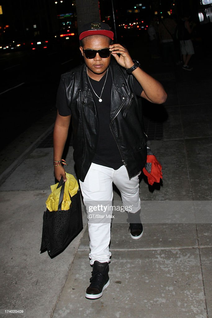 Kyle Massey is seen on July 18, 2013 in Los Angeles, California.