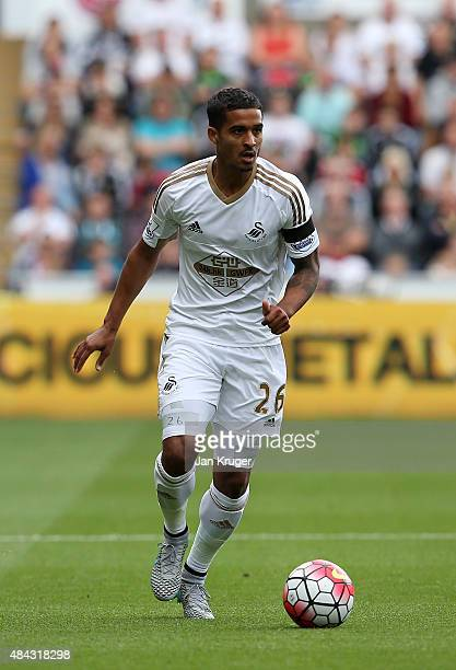 Kyle Naughton of Swansea City during the Barclays Premier League match between Swansea City and Newcastle United at Liberty Stadium on August 15 2015...