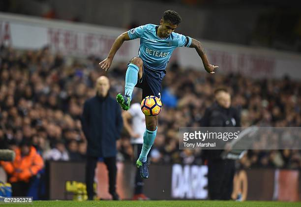 Kyle Naughton of Swansea City during the Premier League match between Tottenham Hotspur and Swansea City at White Hart Lane on December 3 2016 in...