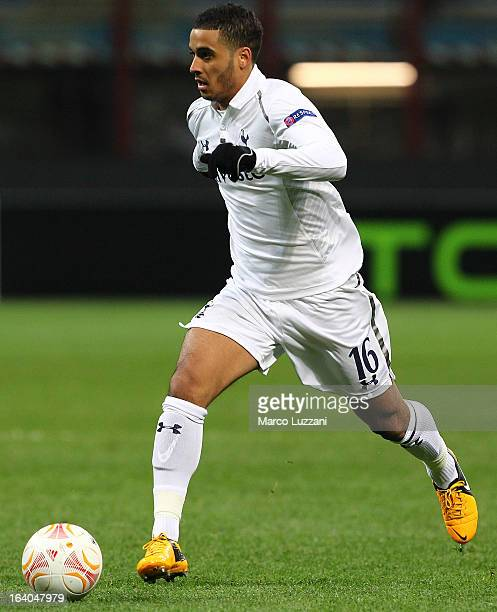 Kyle Naughton of Tottenham Hotspur in action during the UEFA Europa League Round of 16 Second Leg match between FC Internazionale Milano and...